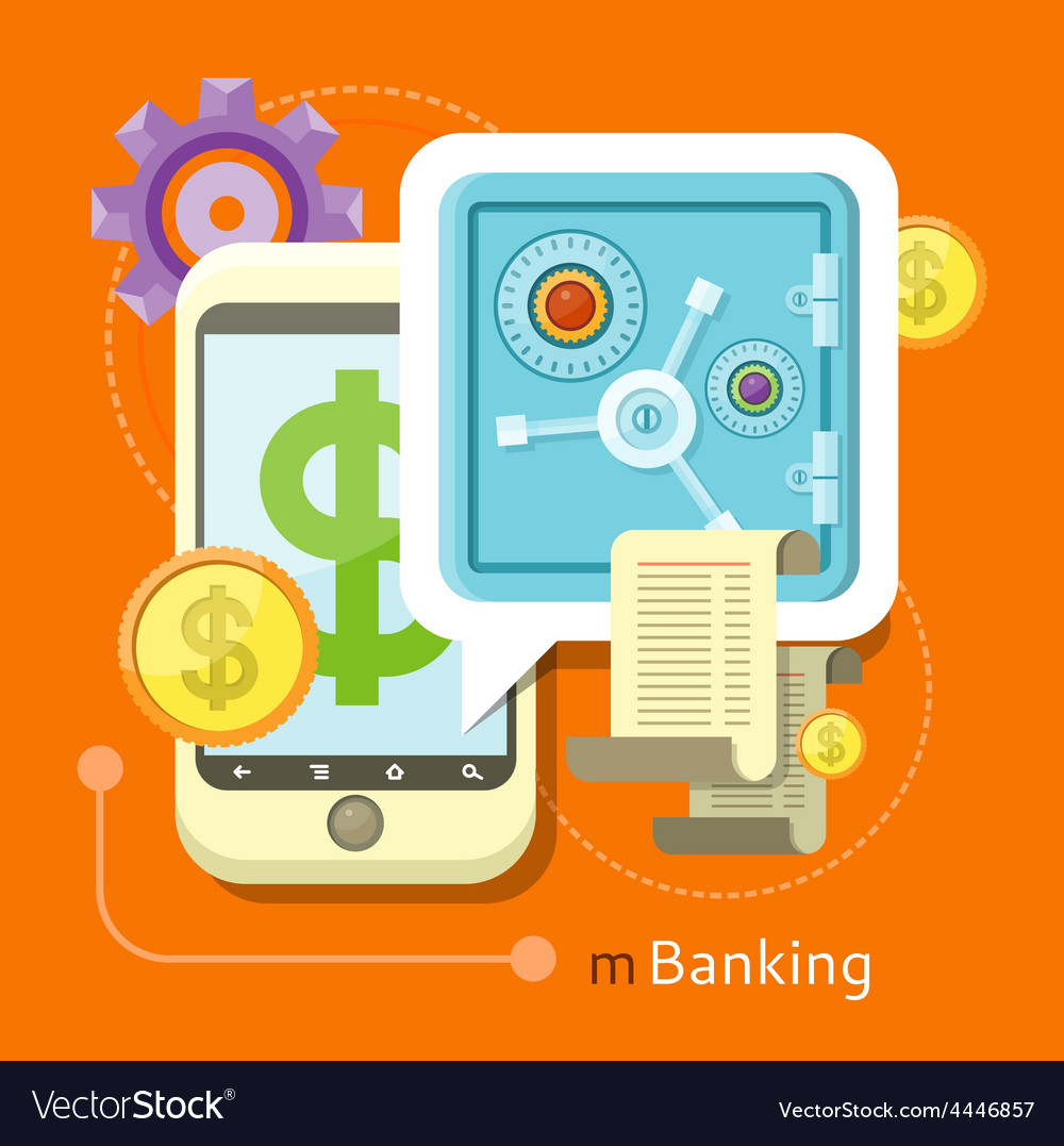Internet online banking concept vector | Price: 1 Credit (USD $1)