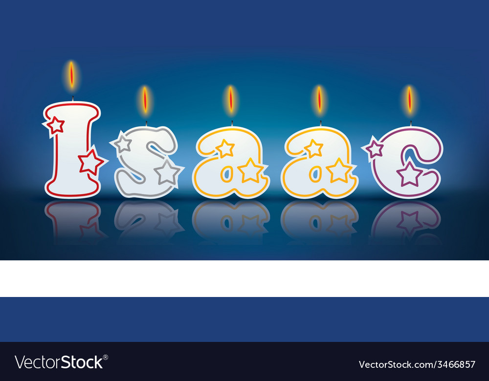 Isaac written with burning candles vector   Price: 1 Credit (USD $1)