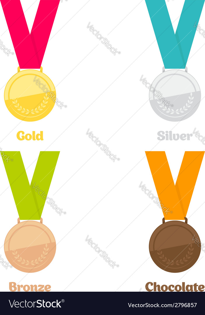 Medals set vector | Price: 1 Credit (USD $1)