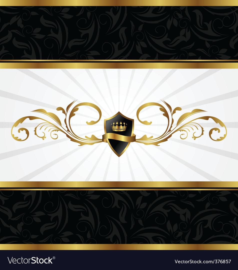 Ornate gold frame vector | Price: 1 Credit (USD $1)