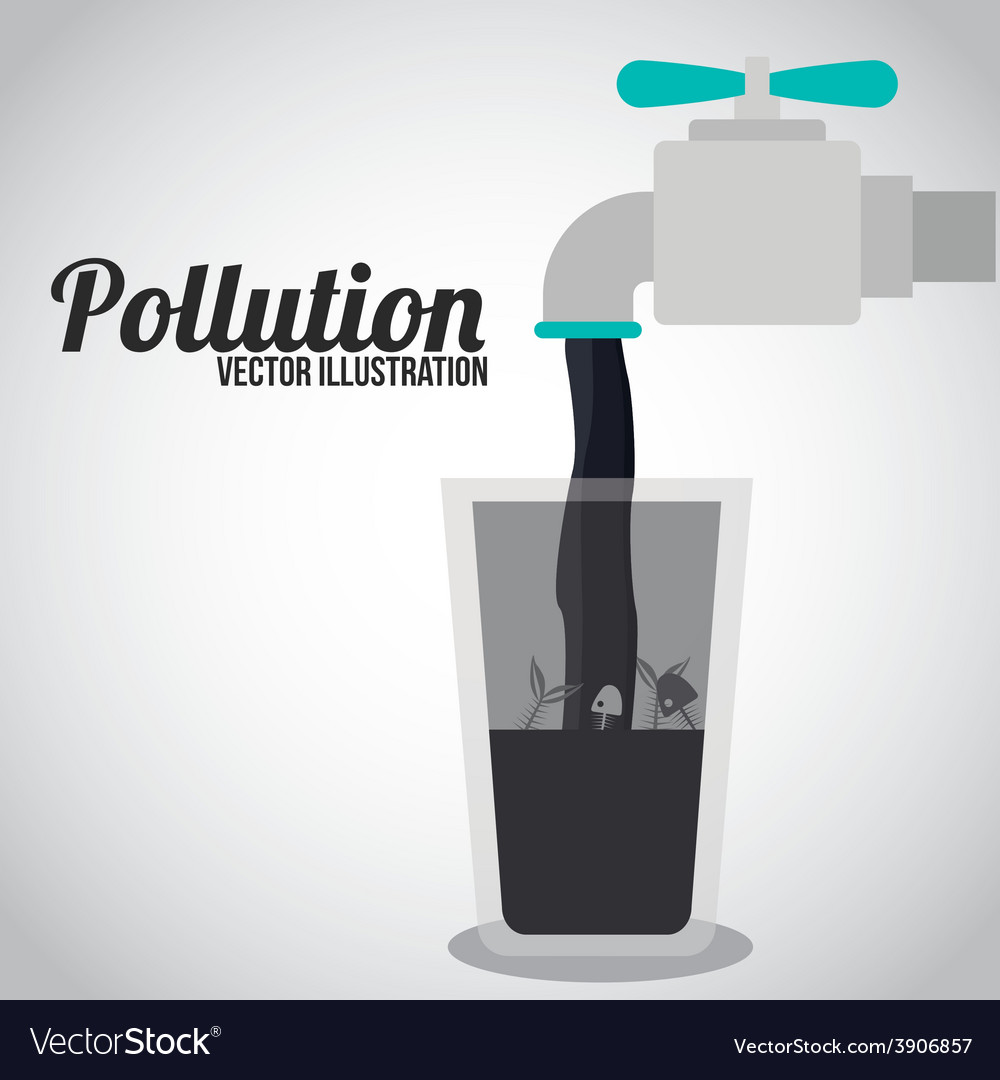Pollution design over white background vector | Price: 1 Credit (USD $1)