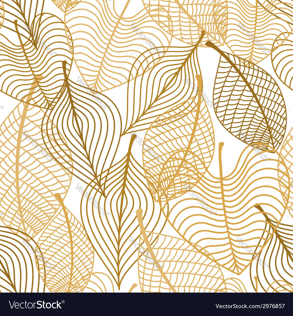 Seamless pattern of yellow and orange autumn vector | Price: 1 Credit (USD $1)