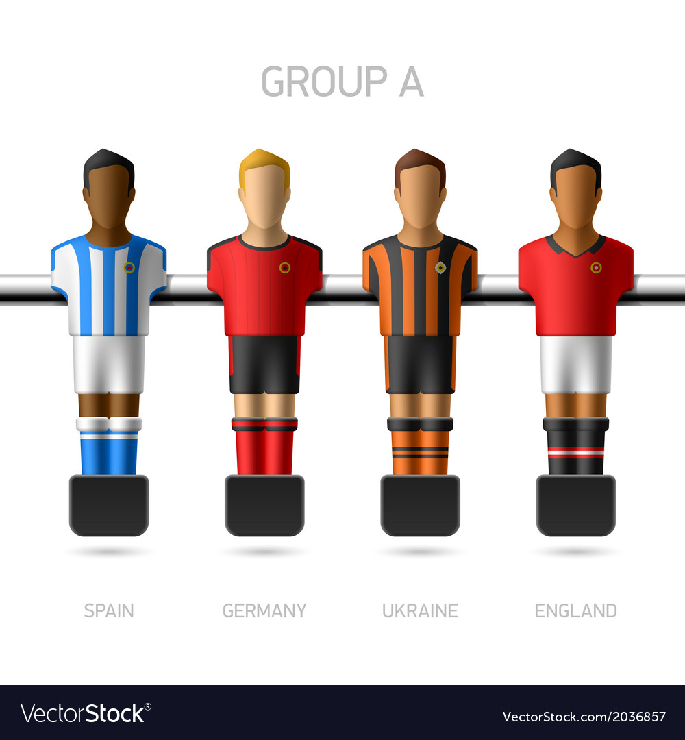 Table football foosball players group a vector | Price: 1 Credit (USD $1)