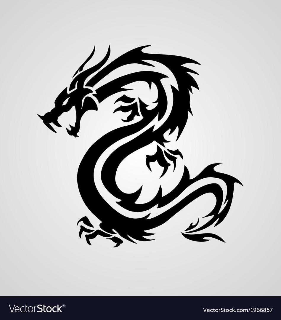 Tribal dragon vector   Price: 1 Credit (USD $1)