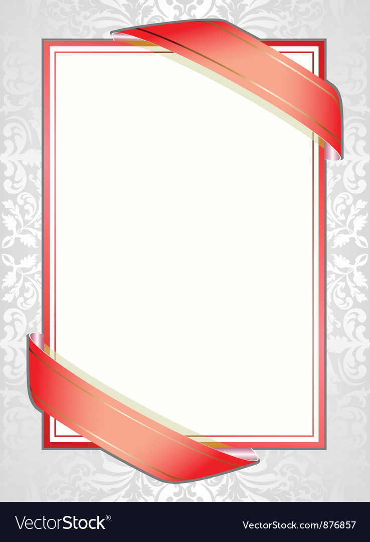 White background with red ribbons vector | Price: 1 Credit (USD $1)