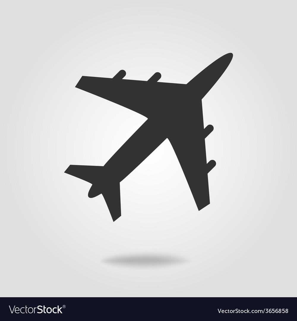 Airplane icon flat design style vector | Price: 1 Credit (USD $1)