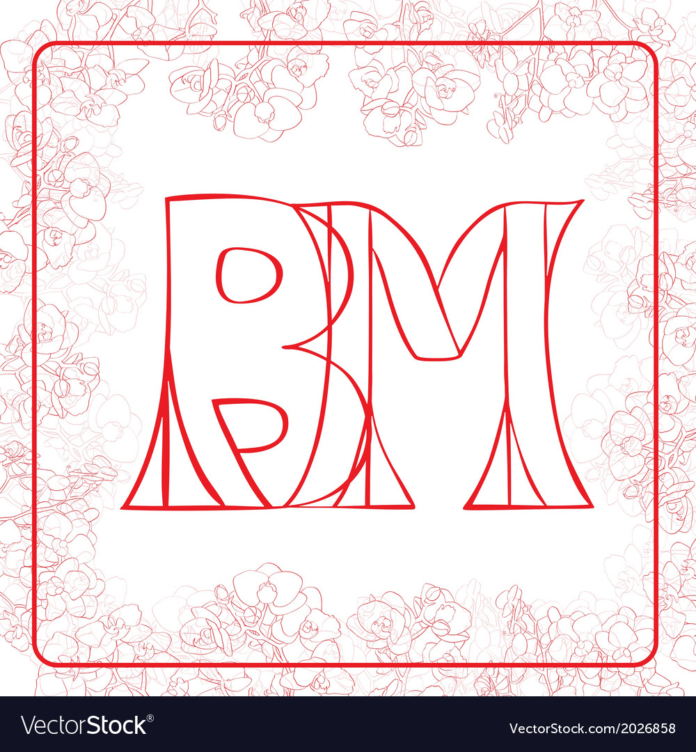 Bm monogram vector | Price: 1 Credit (USD $1)