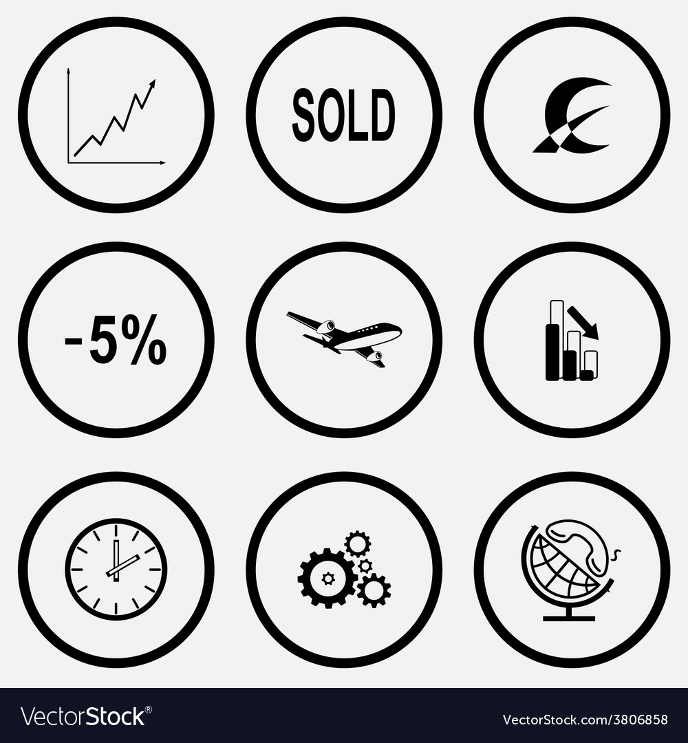 Diagram sold monetary sign -5 airliner graph vector | Price: 1 Credit (USD $1)