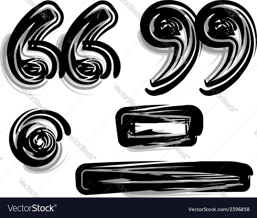Freehand symbol vector | Price: 1 Credit (USD $1)
