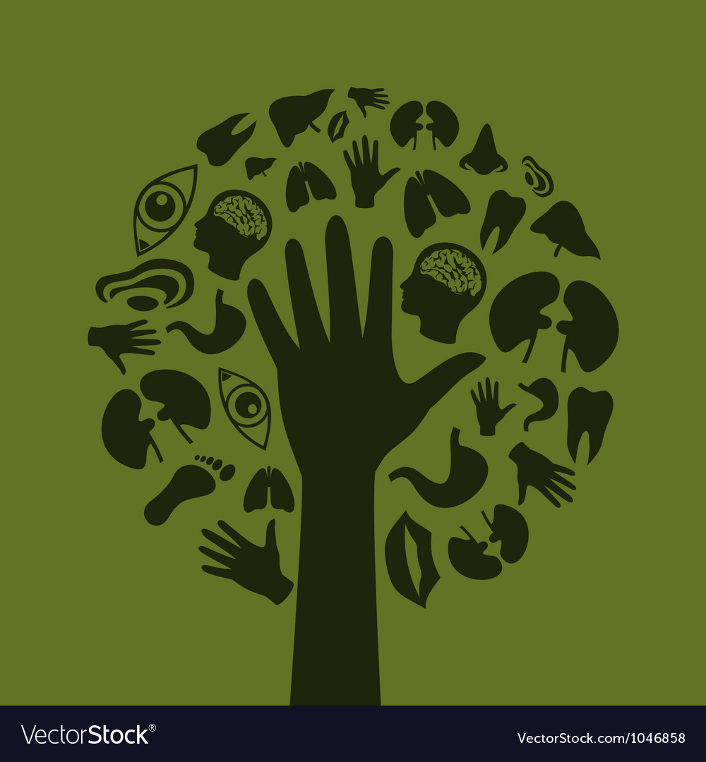 Hand a tree3 vector | Price: 1 Credit (USD $1)