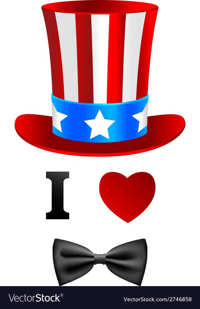 I love uncle sam card vector | Price: 1 Credit (USD $1)