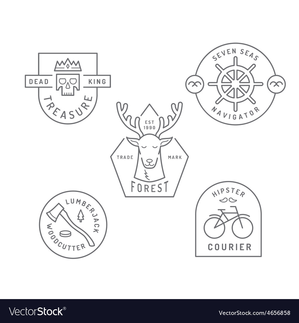 Vintage and retro style logos design vector