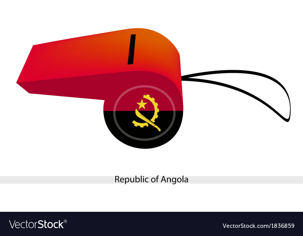 A red and black whistle of angola vector | Price: 1 Credit (USD $1)