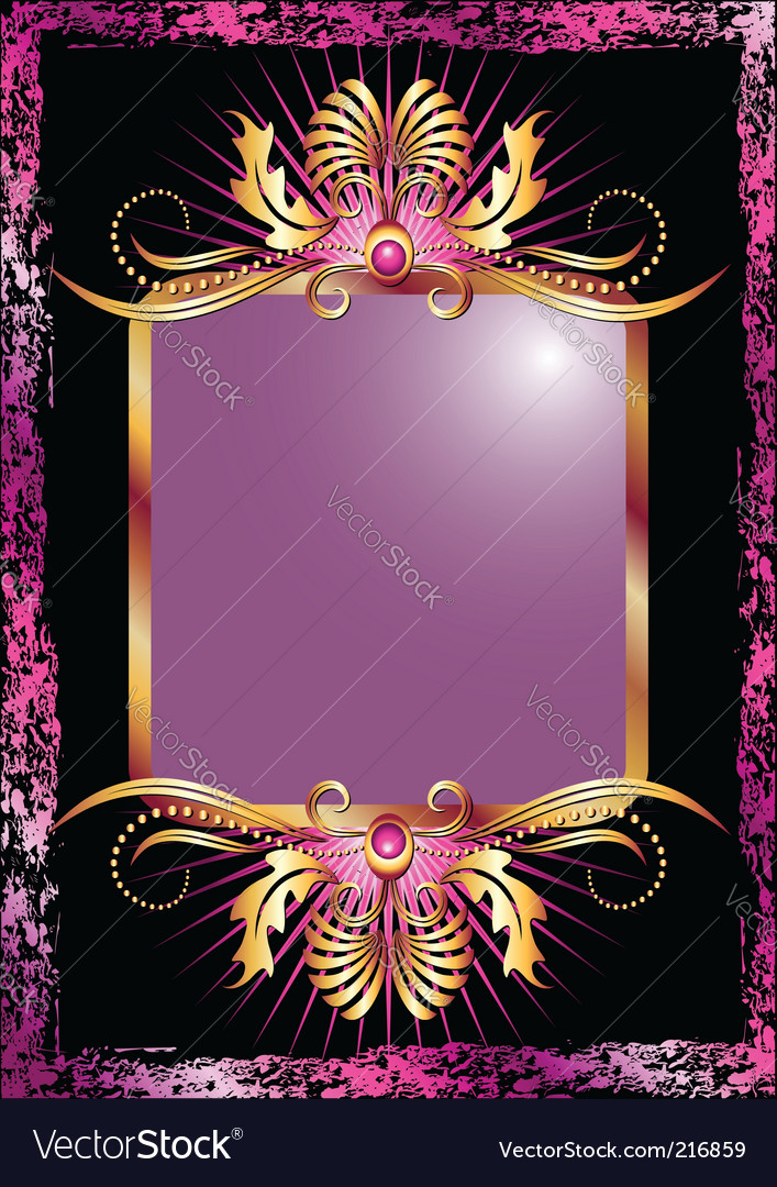 Background with luxurious golden ornament vector | Price: 1 Credit (USD $1)