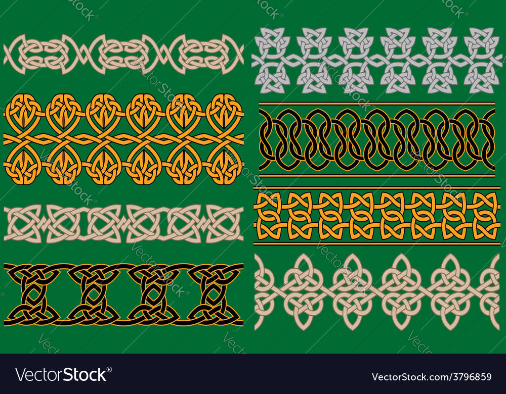 Celtic linear borders and ornaments vector | Price: 1 Credit (USD $1)