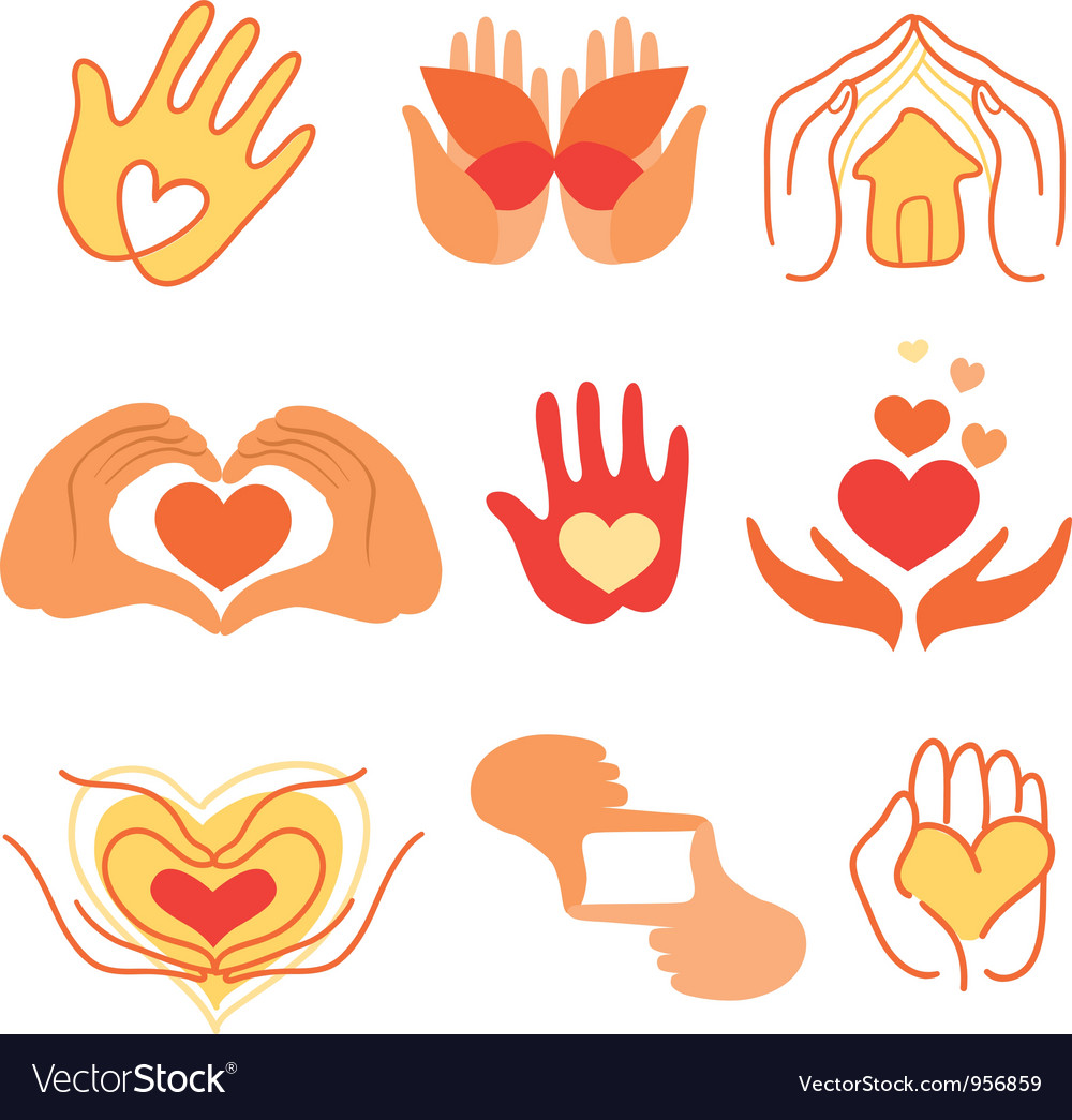 Collection of love signs vector | Price: 1 Credit (USD $1)