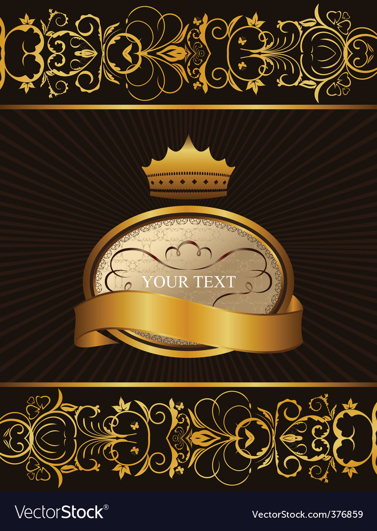 Decorative background with crown vector | Price: 1 Credit (USD $1)