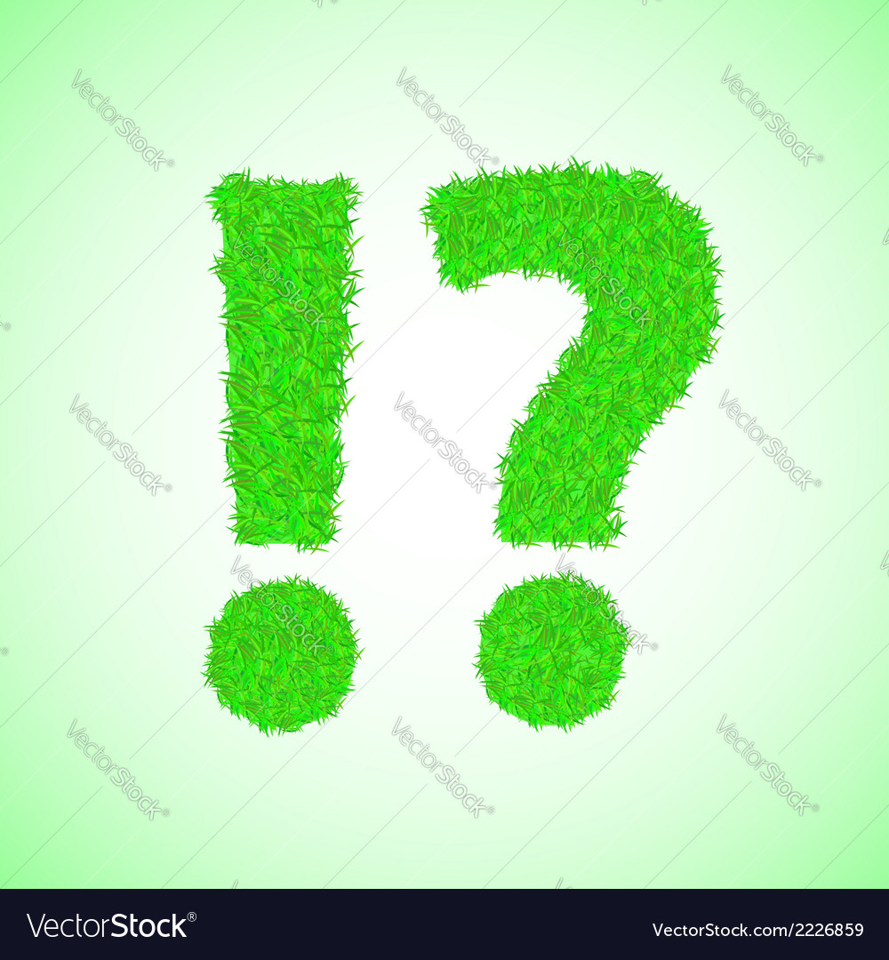 Grass question mark vector | Price: 1 Credit (USD $1)