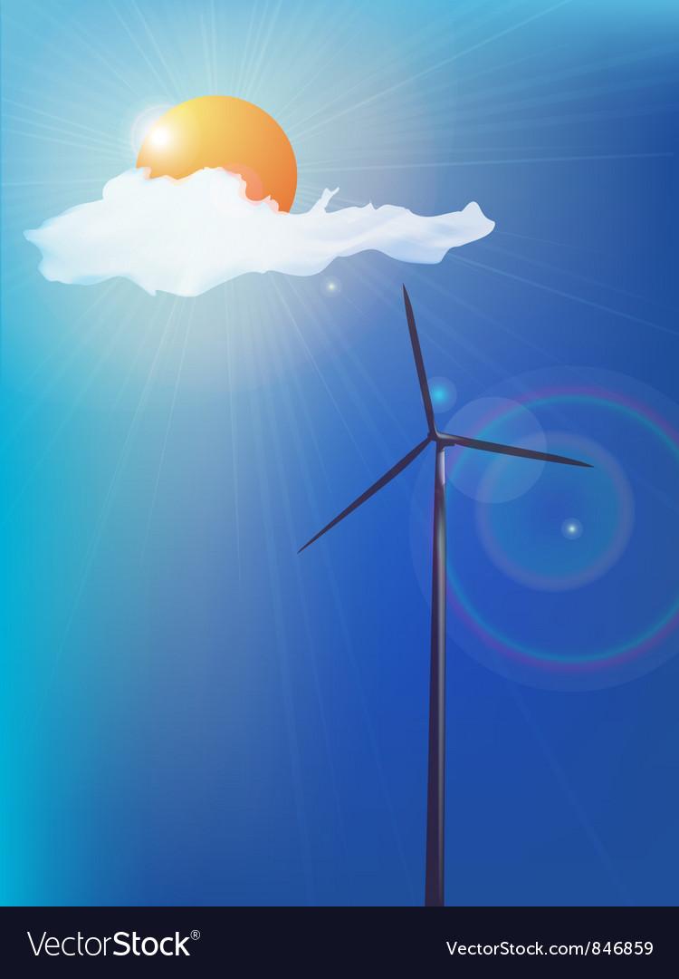 Modern windmill vector | Price: 1 Credit (USD $1)