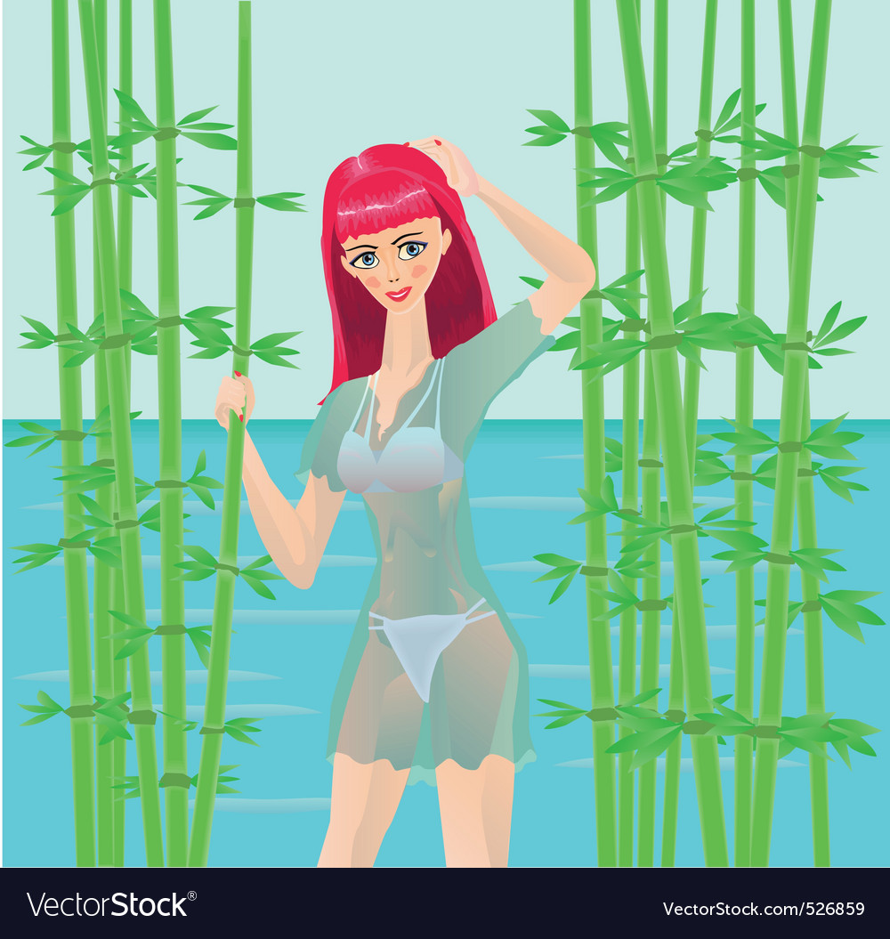 Nature girl vector | Price: 3 Credit (USD $3)