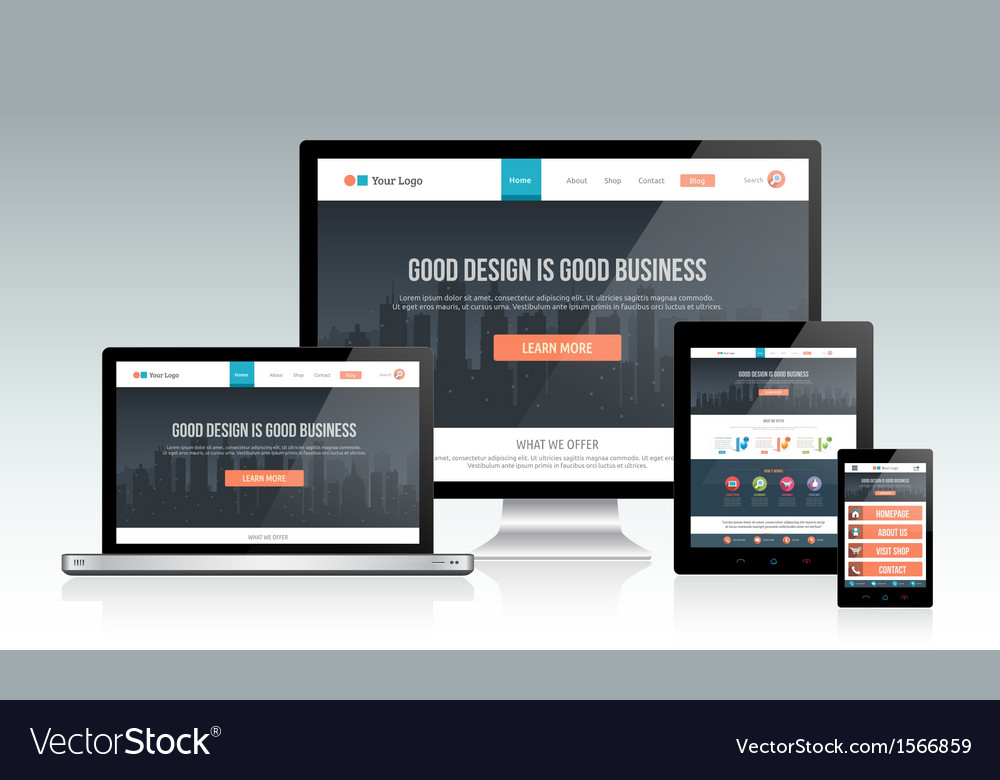 Responsive website design vector | Price: 1 Credit (USD $1)