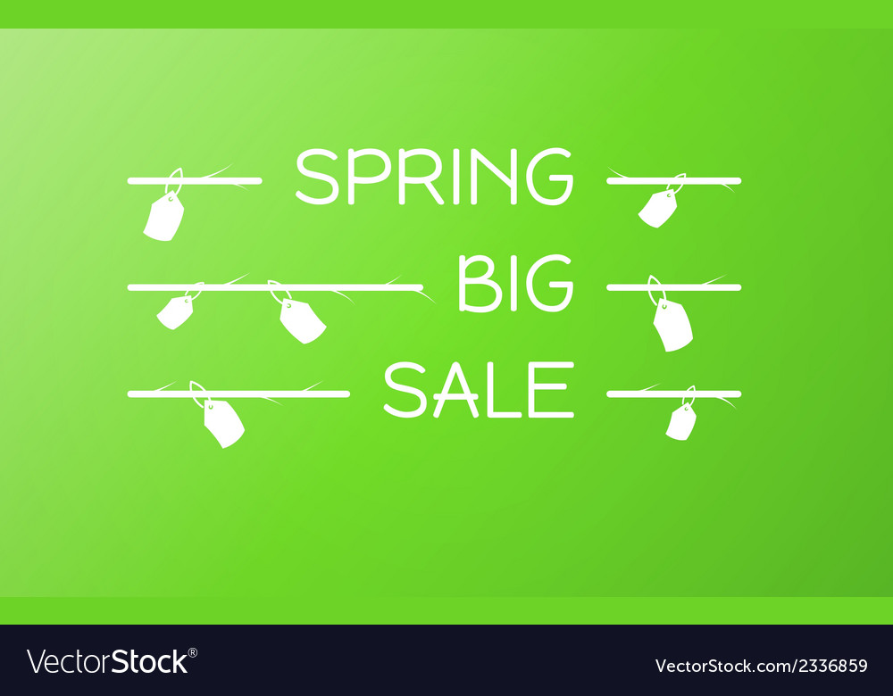 Spring sale background vector | Price: 1 Credit (USD $1)