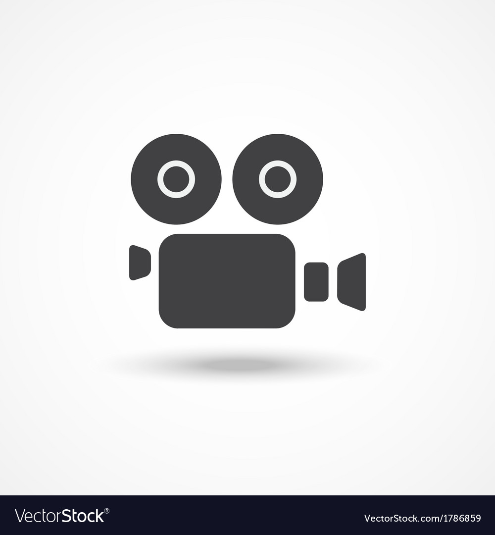 Video camera icon vector | Price: 1 Credit (USD $1)