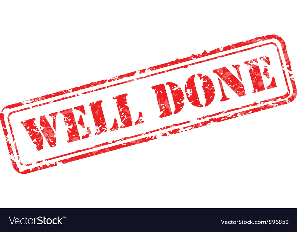 Well done rubber stamp vector | Price: 1 Credit (USD $1)