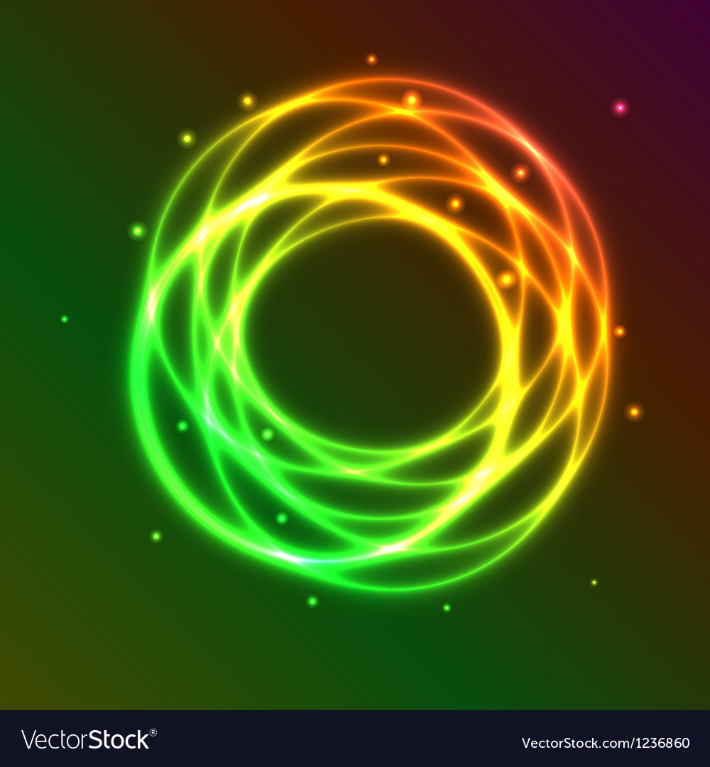 Abstract background with colorful plasma circle vector | Price: 1 Credit (USD $1)