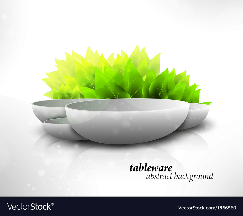 Abstract tableware vector | Price: 1 Credit (USD $1)