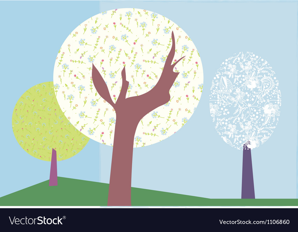 Abstract trees backround vector | Price: 1 Credit (USD $1)