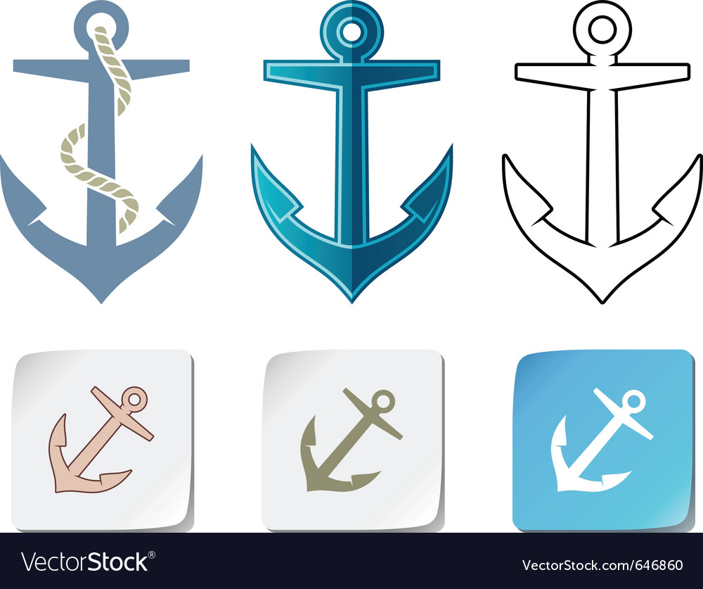 Anchor icons vector | Price: 1 Credit (USD $1)