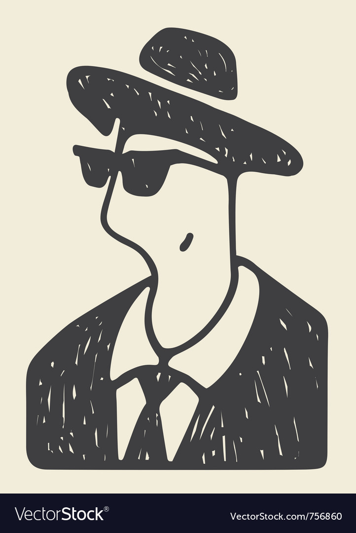 Cool man vector | Price: 1 Credit (USD $1)
