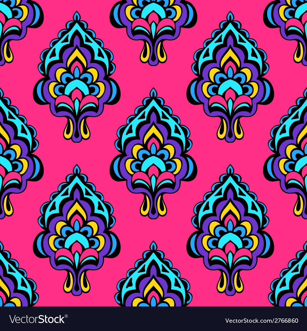 Damask seamless design vector | Price: 1 Credit (USD $1)