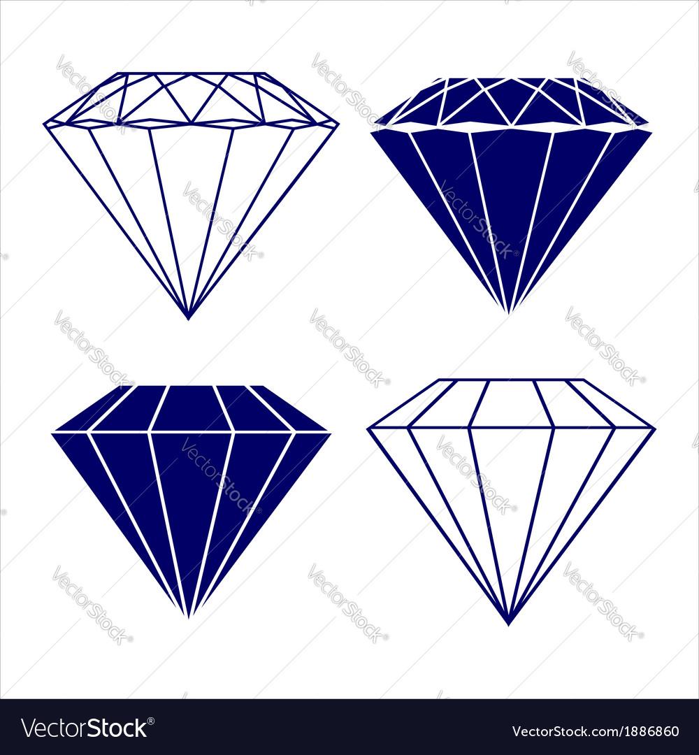 Diamond symbols vector | Price: 1 Credit (USD $1)