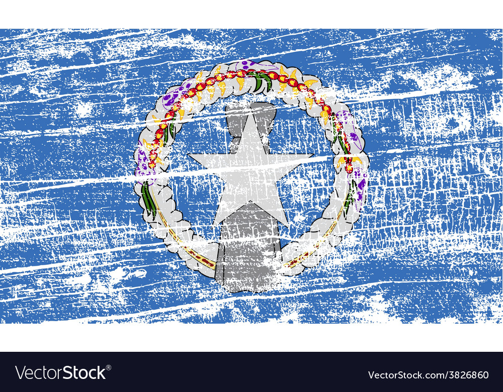 Flag of mariana islands with old texture vector   Price: 1 Credit (USD $1)