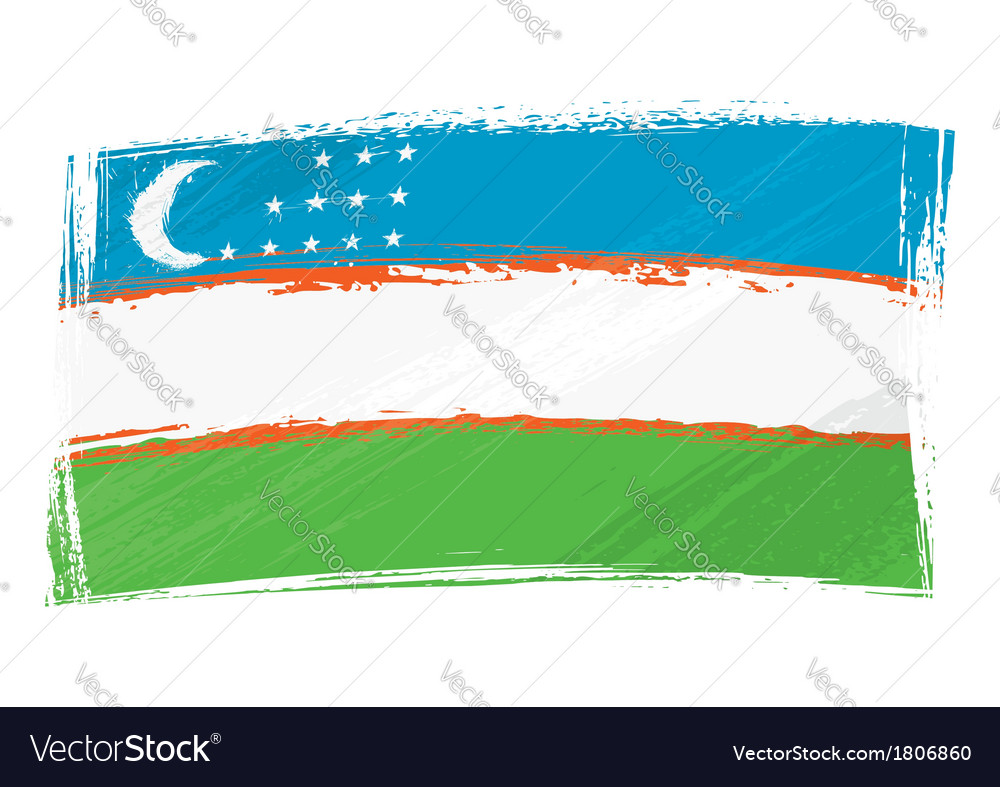 Grunge uzbekistan flag vector | Price: 1 Credit (USD $1)