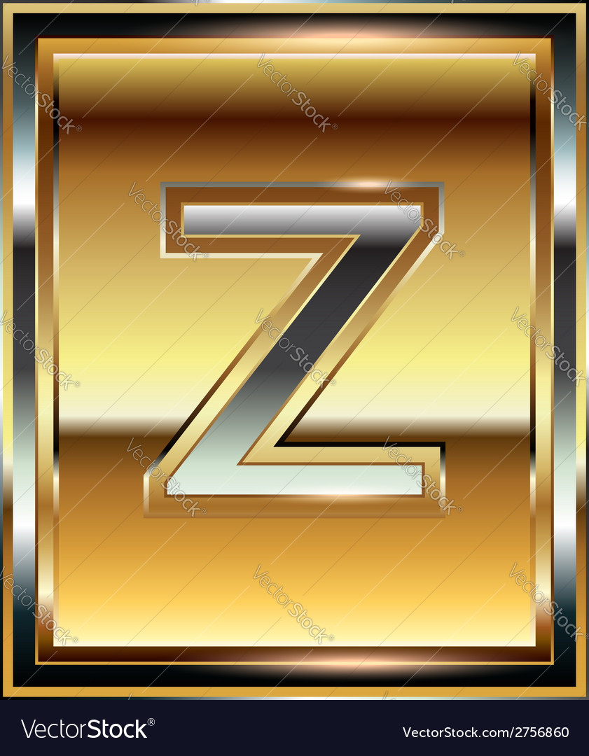 Ingot font letter z vector | Price: 1 Credit (USD $1)