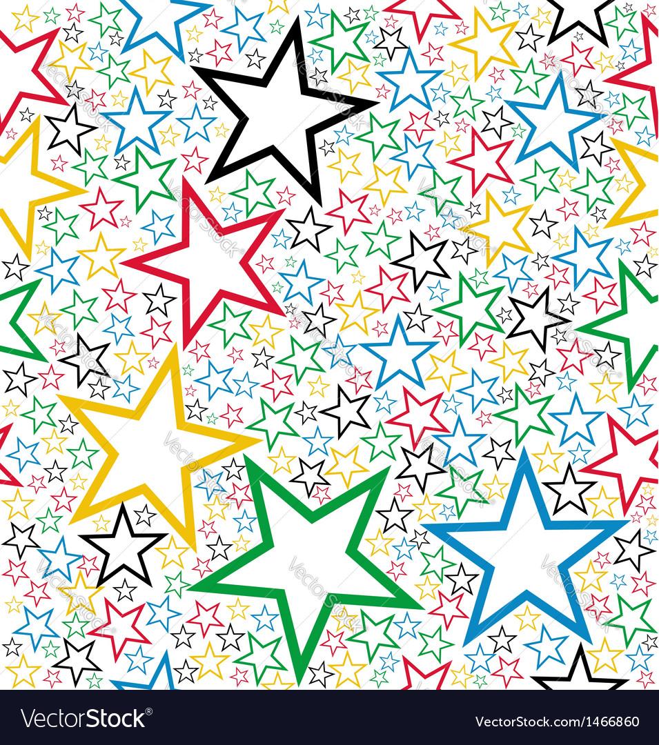 Multicolored stars seamless pattern vector