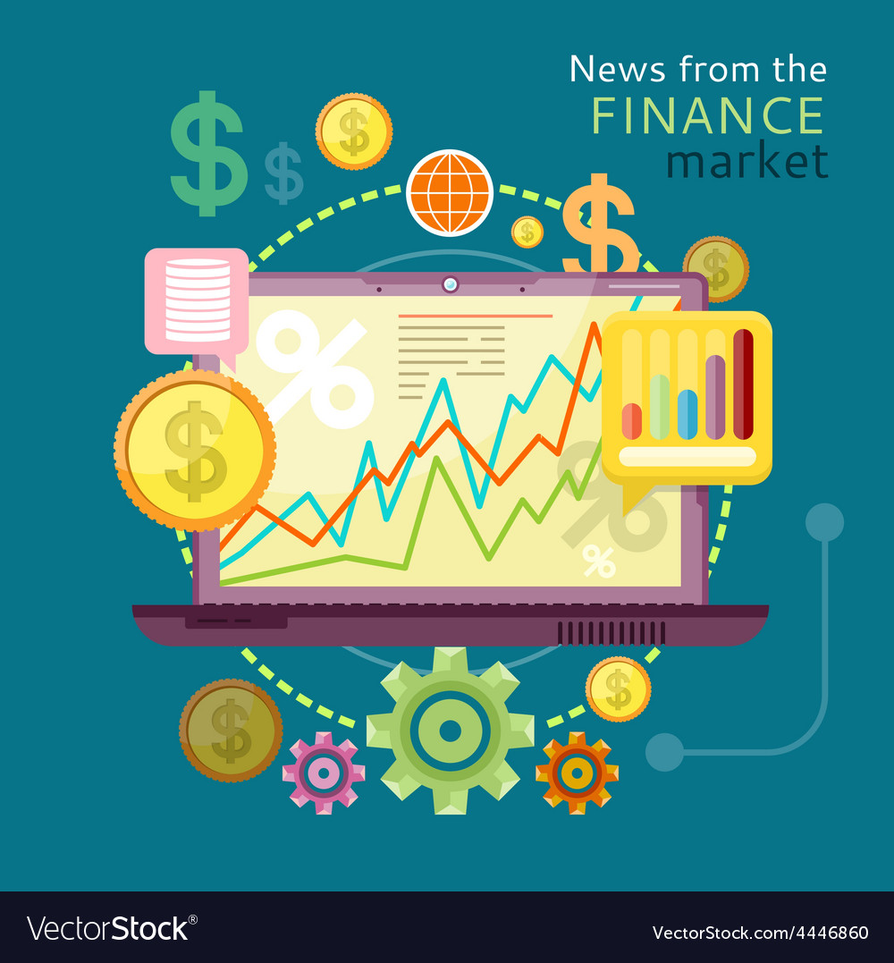 News from finance market vector | Price: 1 Credit (USD $1)