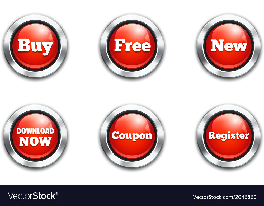 Red buttons vector   Price: 1 Credit (USD $1)