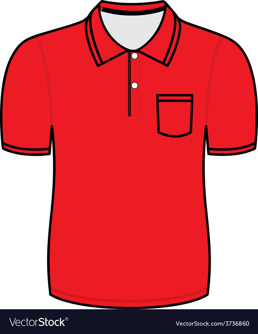 Red polo shirt outline vector | Price: 1 Credit (USD $1)