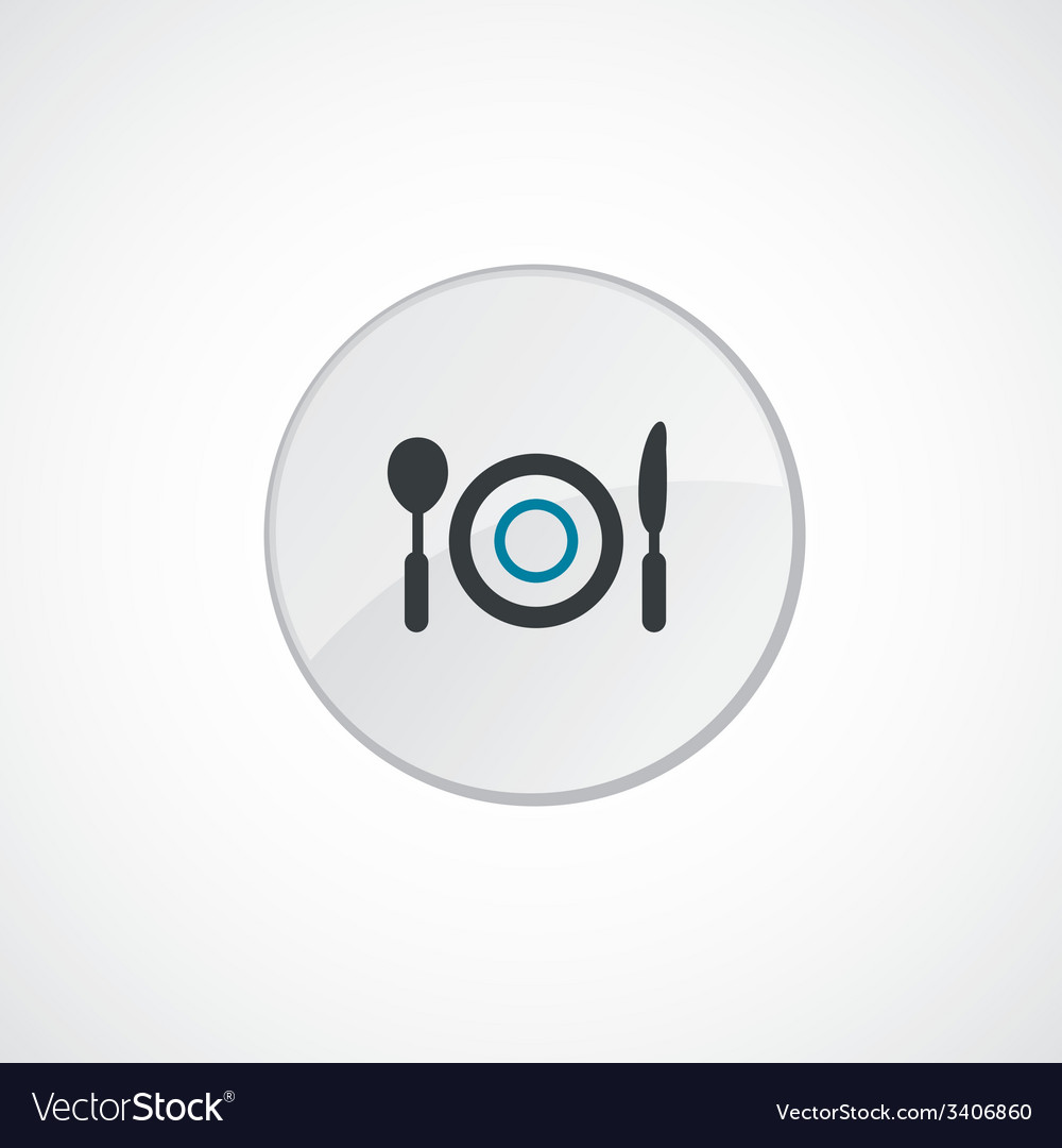 Restaurant icon 2 colored vector | Price: 1 Credit (USD $1)