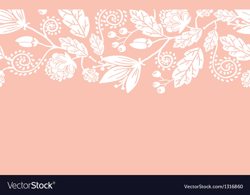 Wedding flowers and leaves horizontal seamless vector | Price: 1 Credit (USD $1)