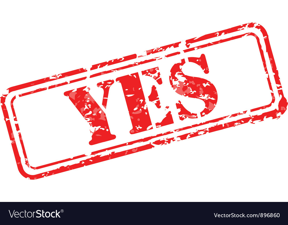 Yes rubber stamp vector | Price: 1 Credit (USD $1)