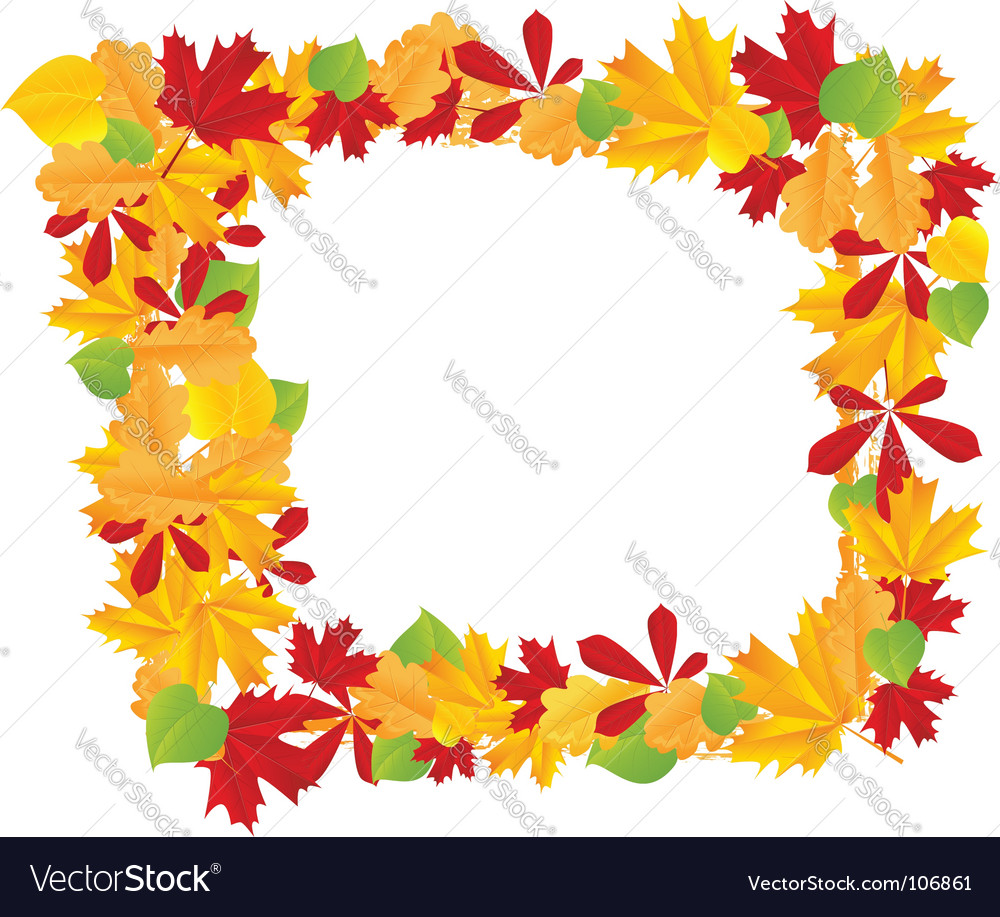 Autumn leaves frame vector | Price: 1 Credit (USD $1)