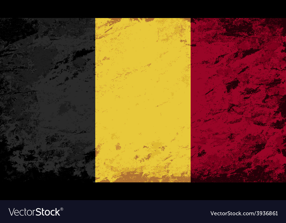 Belgian flag grunge background vector | Price: 1 Credit (USD $1)