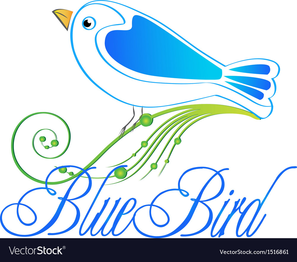 Blue bird logo vector | Price: 1 Credit (USD $1)