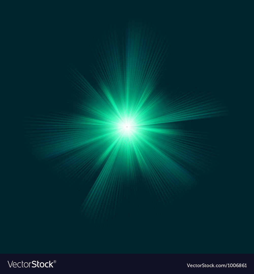 Blue green color design with a burst eps 8 vector | Price: 1 Credit (USD $1)