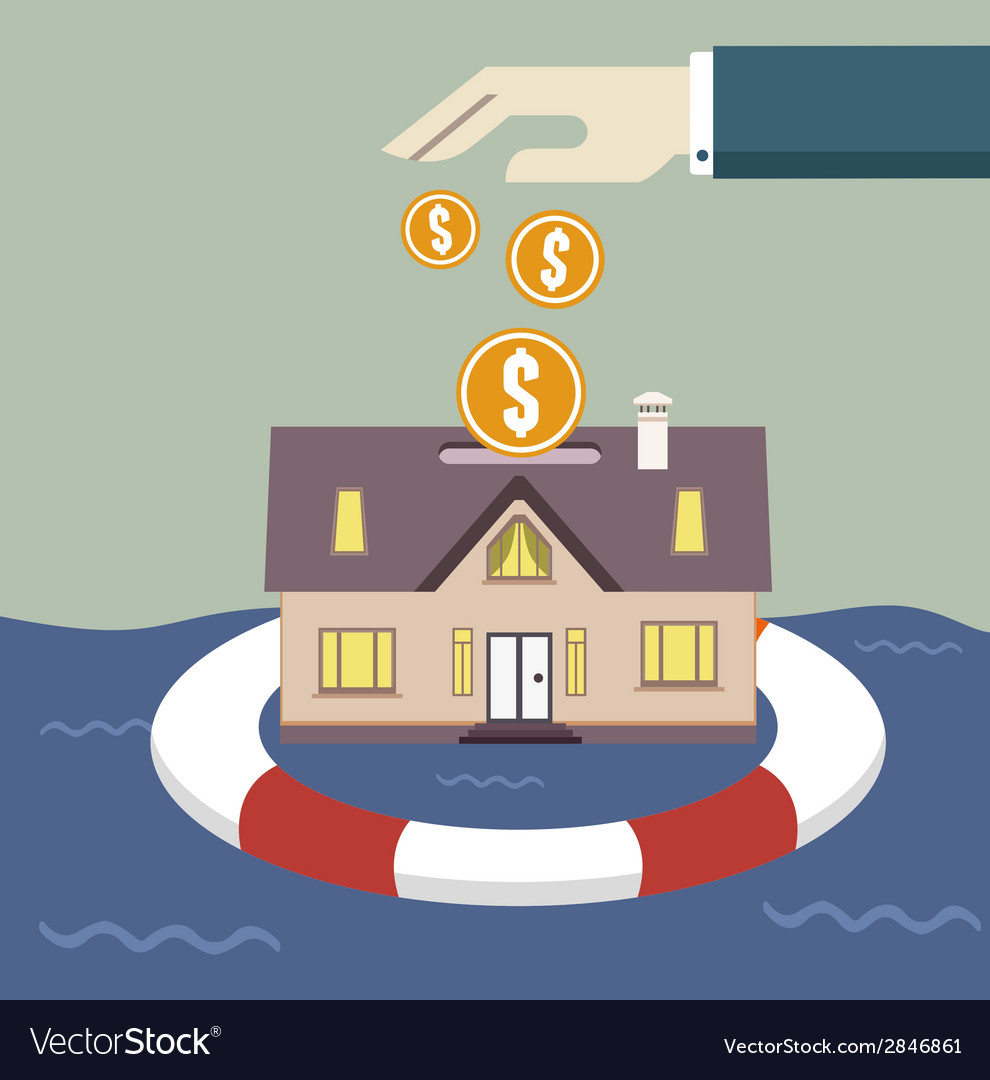 Home insurance concept vector | Price: 1 Credit (USD $1)